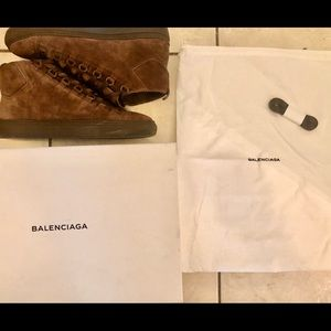 Balenciaga Arena High sneakers 'Maroon Chocolate'